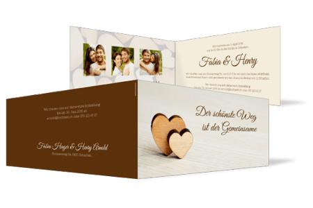 Hochzeitseinladungen Mit Wunschmotiv Und Eigenem Text Online Gestalten
